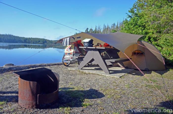 Zelten am Pure Lake