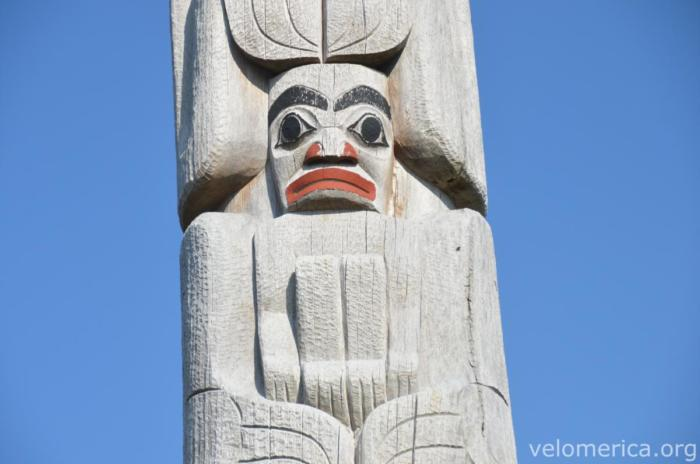 Totem in Old Masset
